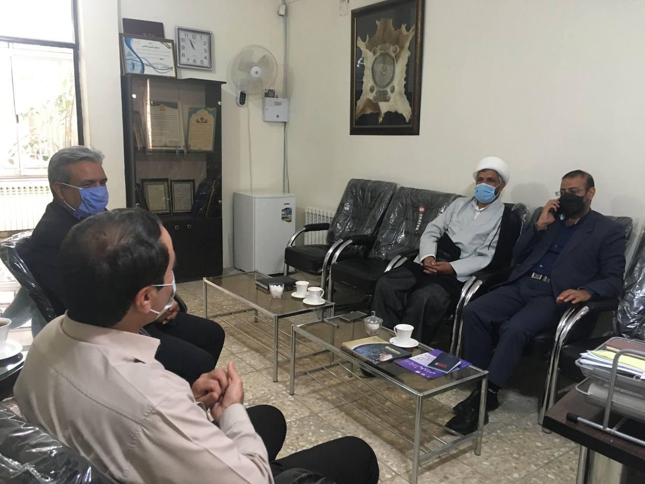 دیدار ریاست و معاونت اداره زندان فردوس با رئیس هیئت امنای موسسه آموزش عالی پیروزان